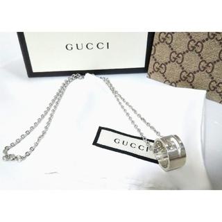 Gucci - GUCCI/グッチ ブランデッドG ワイドリング ネックレス💍