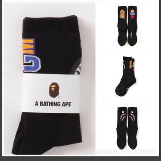 A BATHING APE - A BATHING APE アベイシングエイプソックス ブラック 黒色 一足分