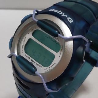 ベビージー(Baby-G)のBaby-G 380 カスタム染色ブルー💙(腕時計)