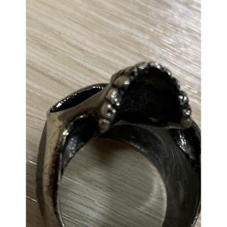 スカルリングブラックコーティング 925‼️SALE‼️(リング(指輪))