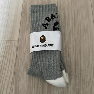 アベイシングエイプ(A BATHING APE)のA BATHING APE アベイシングエイプソックス グレー 灰色 一足分(ソックス)