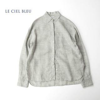 LE CIEL BLEU - LE CIEL BLUE ルシェルブルー リラクシーフィット リネンシャツ