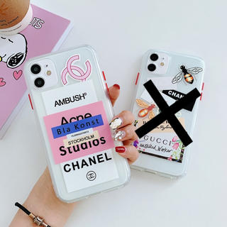 iPhone - 【A】iPhone11 ブランド ロゴ ステッカー ケース 韓国 オシャレ