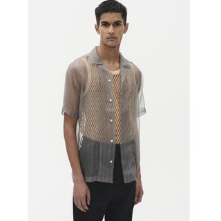 定価45100- CMMN SWDN シースルーシルクシャツ