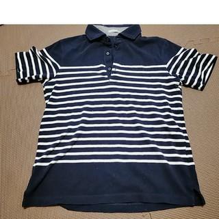 ジーユー(GU)のメンズ ポロシャツ ボーダー(ポロシャツ)