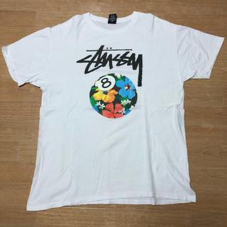 STUSSY - 中古品 STUSSY ステューシー 8ボール Tシャツ L ハイビスカス