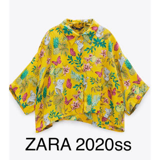 ザラ(ZARA)の新品タグ付き ZARA コアラ クロップ丈 アロハシャツ(シャツ/ブラウス(半袖/袖なし))