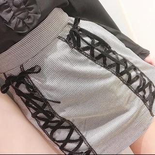 evelyn - 編み上げ台形スカート