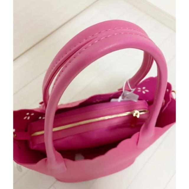 M'S GRACY(エムズグレイシー)のエムズグレイシー  バッグ ピンク レディースのバッグ(トートバッグ)の商品写真