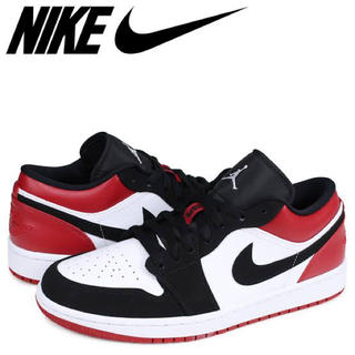 NIKE - NIKE AIR JORDAN 1 LOW BLACK TOE US10