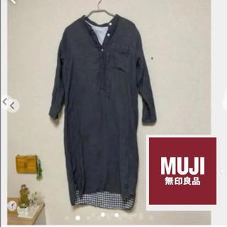 ムジルシリョウヒン(MUJI (無印良品))の無印良品 クルタ  四重ガーゼクルタ 婦人S・チャコールグレー(パジャマ)