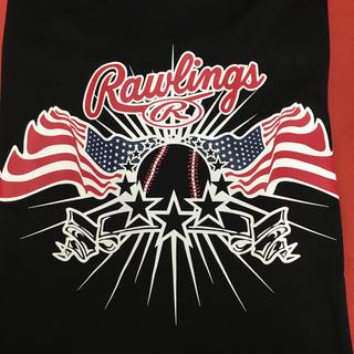 Rawlings - ローリングス Tシャツ ブラック Lサイズ