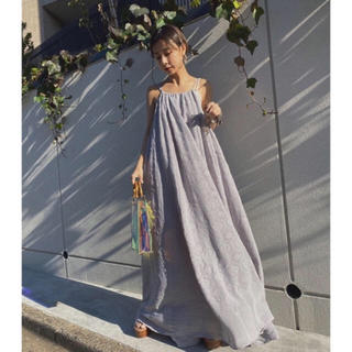 アメリヴィンテージ(Ameri VINTAGE)のAMERIVINTAGE MEDI LAMP HALTER NECK ドレス(ロングワンピース/マキシワンピース)