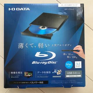 アイオーデータ(IODATA)のI-O DATA 外付けポータブル ブルーレイドライブ BRP-UT6ALK(PC周辺機器)