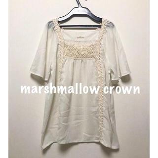 marshmallow crown - marshmallow crown  刺繍レース プルオーバー