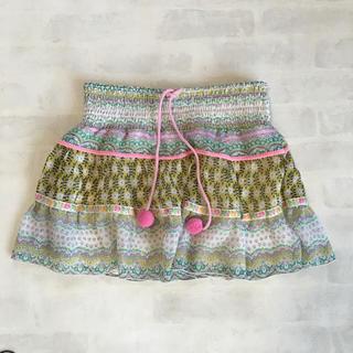 デイシー(deicy)のデイシービーチ フラワー柄スカート(ミニスカート)