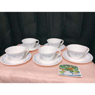 コレール(CORELLE)の未使用 コレール Corell モーニングブルー カップ&ソーサー 5客岩城硝子(食器)
