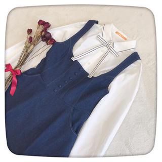 F i.n.t - フィント  ステッチ使い タイ付き シャツ ブラウス