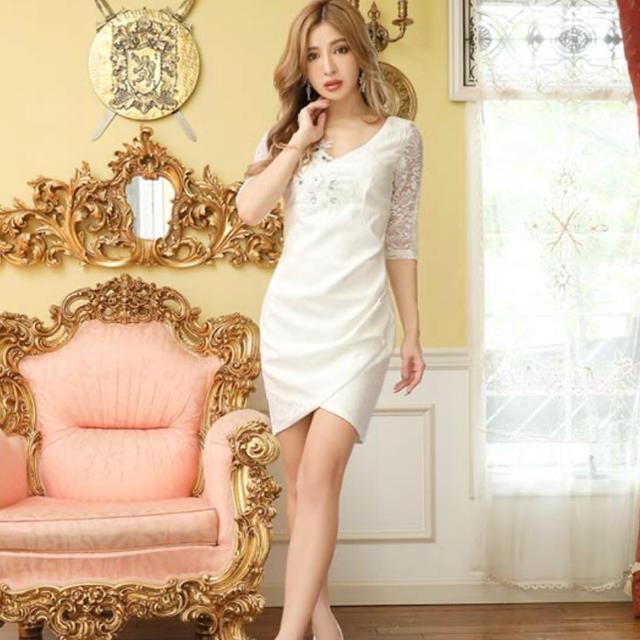 dazzy store(デイジーストア)の袖付きレースドレス、キャバドレス レディースのフォーマル/ドレス(ナイトドレス)の商品写真