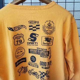ステュディオダルチザン(STUDIO D'ARTISAN)のSTUDIO D'ARTISAN 両面プリント入り 長袖カットソー/ロンT(Tシャツ/カットソー(七分/長袖))