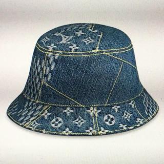 LOUIS VUITTON - 60 L ルイヴィトン nigo ハット 帽子 デニム 青 モノグラム ダミエ