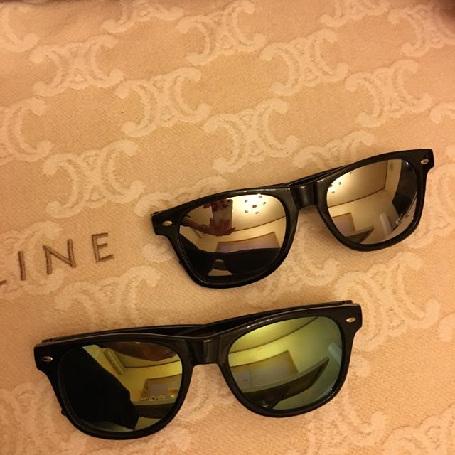 ミラーサングラス2点セット レディースのファッション小物(サングラス/メガネ)の商品写真
