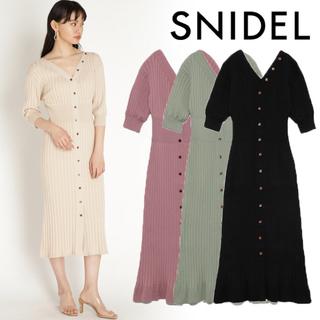 snidel - 【田中みな実着用】snidel  スナイデル ワンピース BLK
