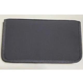 MUJI (無印良品) - ポリエステルパスポートケース クリアポケット付 プラス3枚付き グレー