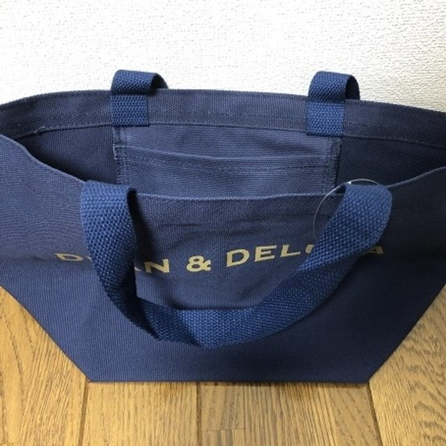 DEAN & DELUCA(ディーンアンドデルーカ)の【DEAN&DELUCA】トートバック★ディーン&デルーカ★ネイビーS レディースのバッグ(トートバッグ)の商品写真