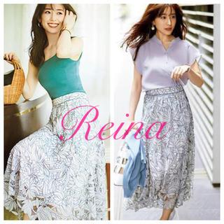 Rirandture - 新品タグ付き🌸20SS✨シアーカットワーク刺繍スカート【ダスティ】