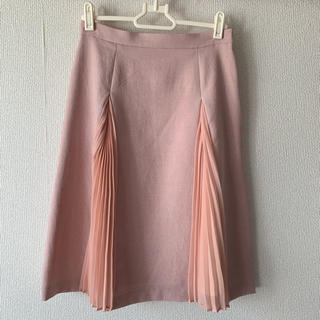 マーキュリーデュオ(MERCURYDUO)の桜色 変形プリーツスカート(ひざ丈スカート)