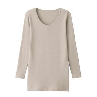 MUJI (無印良品) - 無印良品 ウール 八分袖Tシャツ