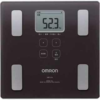 【送料無料 新品未使用】オムロン 体重計 ブラウン HBF-214-BW