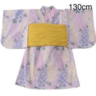 プティマイン(petit main)の新品 プティマイン 藤の花 浴衣 130cm(甚平/浴衣)