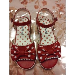 Shirley Temple - シャーリーテンプル 赤 サンダル 20cm 19cm
