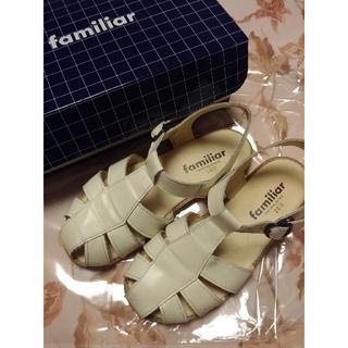 familiar - ファミリア 白 サンダル 20cm