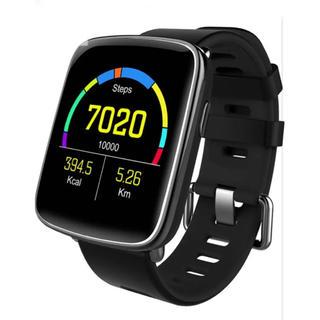 【新品】スマートウォッチ ブラック HD高画質 多機能充実(腕時計(デジタル))