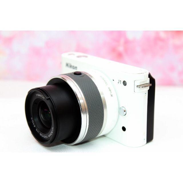 Nikon(ニコン)の初心者おすすめ❤️Nikon J1 ホワイト❤️手振れ補正❤️お散歩カメラ❤️ スマホ/家電/カメラのカメラ(ミラーレス一眼)の商品写真