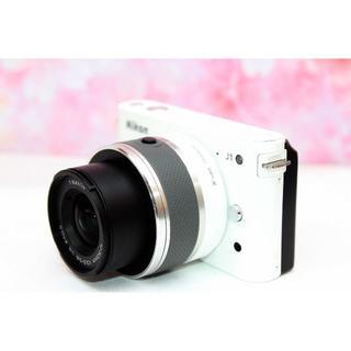Nikon - 初心者おすすめ❤️Nikon J1 ホワイト❤️手振れ補正❤️お散歩カメラ❤️