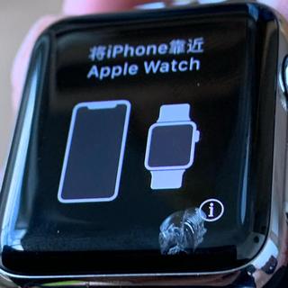 アップルウォッチ(Apple Watch)のAppleWatch series3 (GPS+cellular 38mm)(腕時計(デジタル))