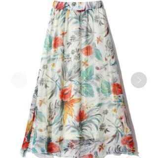 グレイル(GRL)のフラワーフレアミモレ丈スカート(ロングスカート)