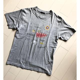 フルカウント(FULLCOUNT)の希少 FULLCOUNT フルカウント 落書き Tシャツ 36 グレー アメカジ(Tシャツ/カットソー(半袖/袖なし))