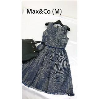マックスアンドコー(Max & Co.)の美品♪(M) マックス&コー  ワンピース(ひざ丈ワンピース)