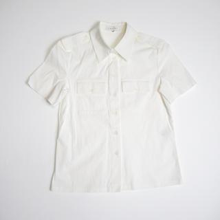 セリーヌ(celine)のCELINE セリーヌ サファリシャツ 38 フランス製 半袖シャツ(シャツ/ブラウス(半袖/袖なし))