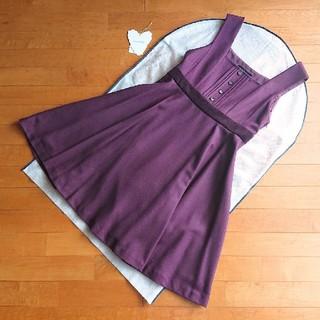 JaneMarple - ジェーンマープル カシミアフラノのジャンパースカート ワンピース ボルドー