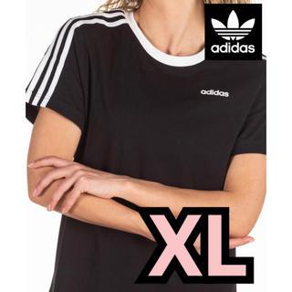 adidas - 在庫わずか♡新品/adidas♡スリーストライプTシャツ/レディースXLサイズ
