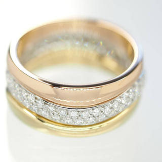 カルティエ(Cartier)の質屋出品iiv Cartier カルティエ ラブミーダイヤリング 3連 750(リング(指輪))