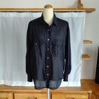 23区 - 2020SS◆23区【SLOW】コットンローンシャツ・黒 38