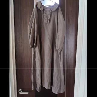ネストローブ(nest Robe)のnest Robe リネン7部袖ワンピース (ひざ丈ワンピース)