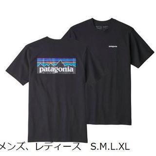 patagonia - パタゴニアT 黒 patagonia P6 ベストセラー クラシックロゴ レトロ